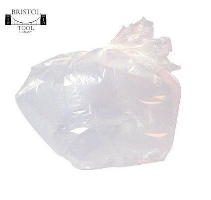 Clear Refuse Sacks - 45cm x 98cm + 28cm - HEAVY DUTY - (1 BOX = 200 BAGS) by Bristol Tool Company by Rubbish Bags