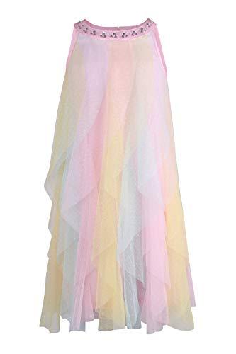 Mesh Emma Dress - Emma Riley Girl's Summer Halter Neck Sleeveless Princess Dress for Wedding Party Colored Candy 7