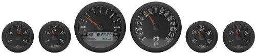 Medallion Premium Bagger Just Black Gauges for 2004-2013 FLH, FLT models - One Size Bagger Gauges