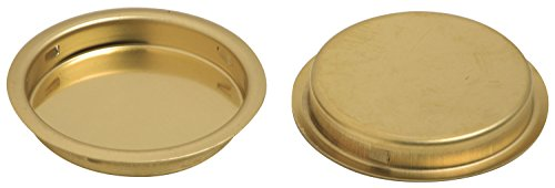 Stanley Hardware S403-512 CD40-3512 Solid Brass Flush Round Pull in Bright Brass, 2 pack - Stanley Sliding Doors