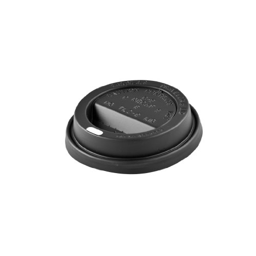 - Solo TL38B2-0004 Black Traveler Plastic Lid - For Solo Paper Hot Cups (Case of 1000)