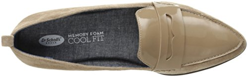 Dr. Scholl's Frauen Eclipse Penny Loafer Putty Mikrofaser / Patent
