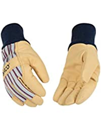 Youth 1927KW Lined Grain Leather Palm with Knit Wrist Glove