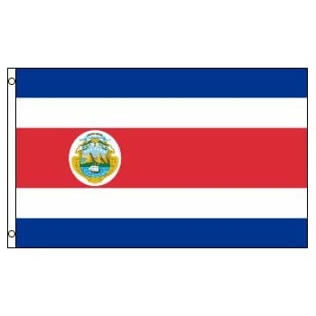 amazon com costa rica 3x5 ft polyester flag garden outdoor