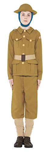 Boys Horrible Histories WW1 Army Military Soldier Guard Wartime World War 1 Historical Fancy Dress Costume Outfit (7-9 Years) ()