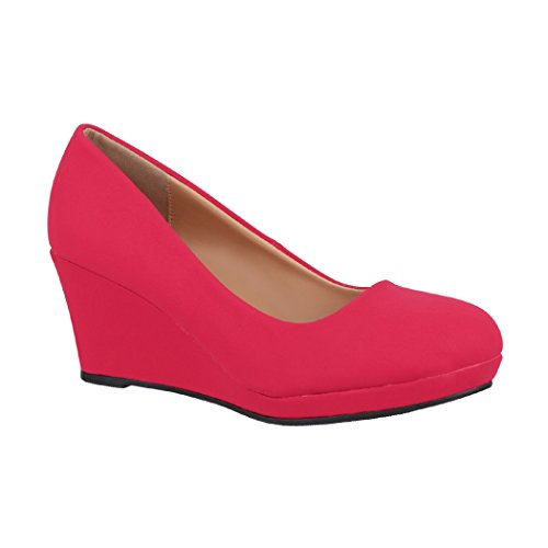 Elara – Cuña Rot Zapatos Mujer Chunkyrayan para Neu con de Plataforma rddZqX