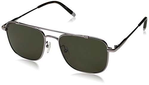 Calvin Klein Unisex Ck2150s Navigator Aviator Sunglasses, Gunmetal, 53 mm (Sunglasses Calvin For Klein Men)