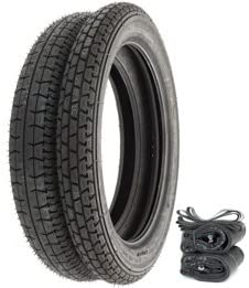 Metzeler Block C Tire Set Tires Tubes and Rim Strips Compatible with Honda CL72 CL77