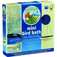 - Gardman BA01114 Glazed Ceramic Hanging Bird Bath/Feeder, Tan and Blue, 8