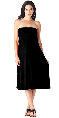 Popana Womens Casual Long Convertible Maxi Skirt Plus Size - Made In USA Black 2X by Popana (Image #3)