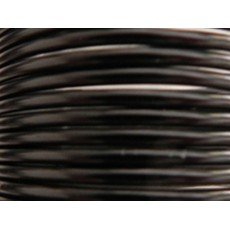 2 M/ètres Fil Aluminium Noir 3mm