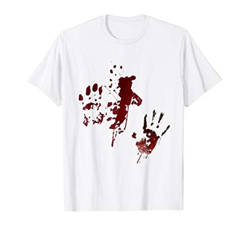Blood Splatter Halloween Costume Men's Fashion T-Shirt ()