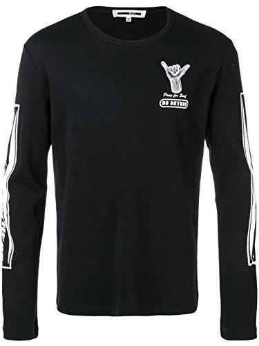 MCQ by Alexander McQueen Men's 463570Rmt051000 Black Cotton T-Shirt