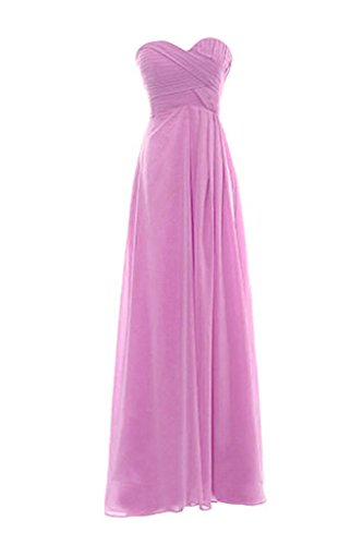 Snowskite Womens Sweetheart Long Chiffon Bridesmaid Evening Dress size 26 Lilac