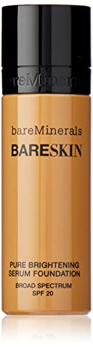 (bareMinerals Pure Brightening Serum SPF 20 All Skin Types Bare Tan 13 Foundation for Women, 1 Ounce)