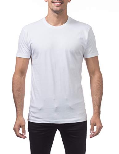 - Pro Club Men's Premium Lightweight Ringspun Cotton Short Sleeve T-Shirt, White, X-Large Tall
