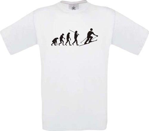 ShirtInStyle T-Shirt EVOLUTION Skifahrer SKI Größen S-XXL