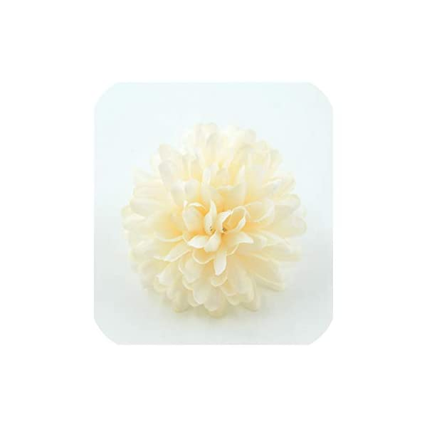20PCS 7cm Chrysanthemum Artificial Silk Flower Head for Home Wedding Party Decoration,Champagne