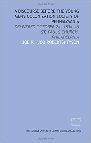 Free ipod audiobooks download A Discourse before the Young Men's Colonization Society of Pennslyvania: delivered October 24, 1834, in St. Paul's Church, Philadelphia PDB