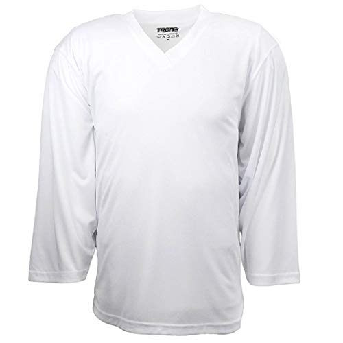 TronX Hockey Practice Jersey (White Adult L)