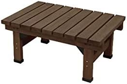 ダークブラウン/Abelia Bench 58×90 デッキ縁台 縁台 ウッドデッキ デッキ シンプル ブラウン お手軽 便利