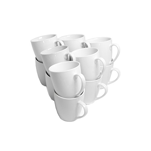 10 Strawberry Street CATERING-12-MUG-W Catering Mug Set, White (Small Cups Coffee White)