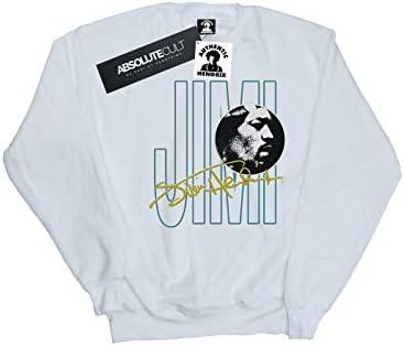 Absolute Cult Jimi Hendrix Herren Jimi Signature Sweatshirt Weiß XXXXX-Large
