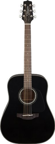 Takamine GD30-BLK Dreadnought Acoustic Guitar, Black by Takamine