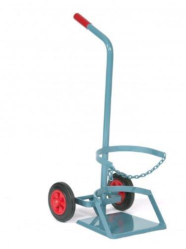 Nies Maschinenbau F1 - Carretilla para bombonas (11 kg propano Diámetro 320, variante: con placa stand y vollgummireifen 200 mm: Amazon.es: Jardín