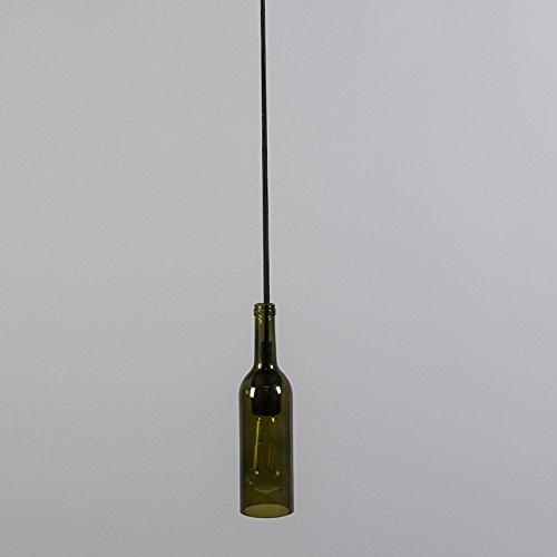 QAZQA rústico Lámpara colgante BOTTLE verde Vidrio/Metálica Otros/Alargada Adecuado para LED Max. 1 x 60 Watt: Amazon.es: Iluminación