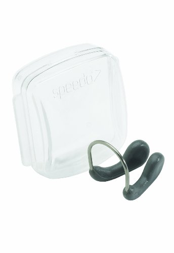 Speedo Competition Nose Clip, Charcoal, One Size (Best Swimming Nose Clip)