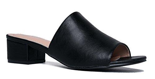 black slides heels - 6