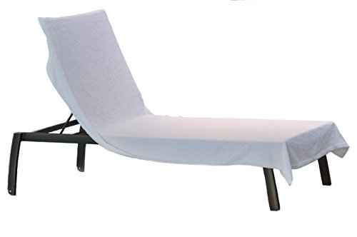 Caribbean Natural SOFT Outdoor 90 in x 40 in Pool Side Luxury Lounge Chair Towel Cover - Perfect for Spas, Hotels, Pools, Homes and Beaches, a Great Gift Idea