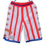 Harlem Globetrotters Shorts - Size: Youth Large - White w/ red stripes (Harlem Globe Trotters Basketball)