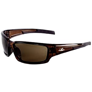 Bullhead Safety Eyewear BH1478AF Maki, Crystal Brown Frame, Brown Anti-Fog Lens, Brown TPR Nose & Temple (1 Pair)