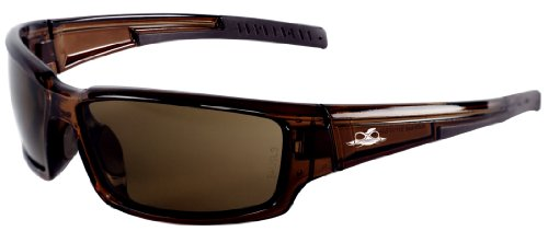 Bullhead Safety Eyewear BH1478AF Maki, Crystal Brown Frame, Brown Anti-Fog Lens, Brown TPR Nose & Temple (1 - Sunglasses Bullhead