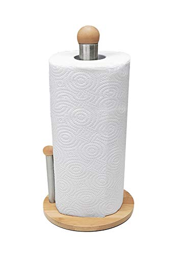 Kozo Paper Towel Holder. The Latest Bamboo Wood Design. Countertop Roll Holder, Easy To Use And A Beautiful Decor For Your Kitchen And Home