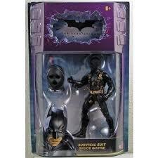 (Batman Dark Knight Movie Master Exclusive Deluxe Action Figure Survival Suit Bruce Wayne)