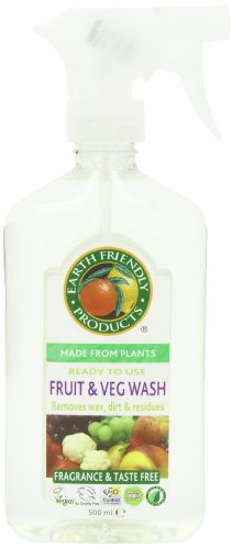 Earth Friendly Products Fruit & Vegetable Wash, 17-Ounce Bottle (Pack of 6)