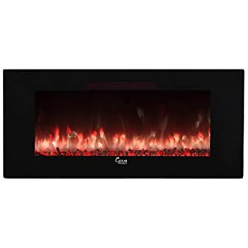 luxury electric fireplace build in tv storage caesar hardware contemporary luxury linear wall mount recess freestanding multicolor flame electric fireplace 50 amazoncom