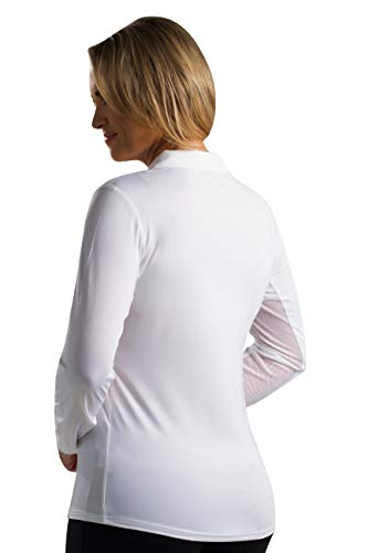 SanSoleil Women's Sunglow UV 50 Long Sleeve Solid Polo Top