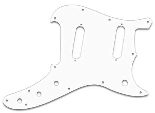 Pickguard For Fender Duo-Sonic Reissue, WHITE BLACK ()
