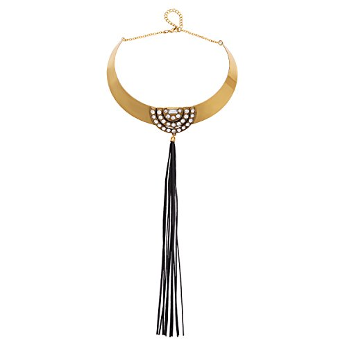 LOHOME Women's Fashion Necklaces Leather Fringed Charm Necklace Collar Bib for Women