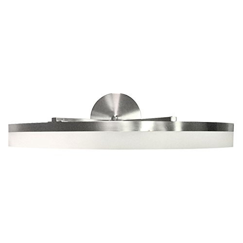 Style Selections Lynnpark 1-Light Brushed Nickel Integrated LED ...