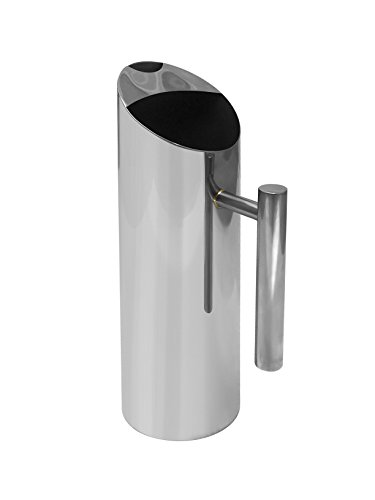 """JT ROSE & CO. Stainless Bite the bullet Water Pitcher with Ice Guard 50 Oz 11.5"""" S10001"""