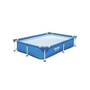 Bestway 56401 – Piscina Desmontable Tubular Infantil Splash Jr. Frame Pool 221x150x43 cm