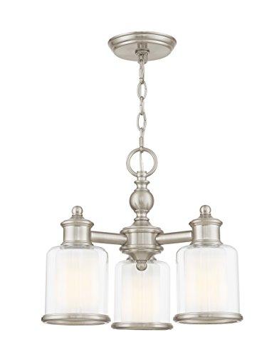 Livex Lighting 40203-91 Middlebush 3 Light BN Mini Chandelier/Ceiling Mount, Brushed (Dinette Brushed Nickel Chandelier)