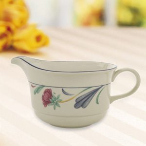 Poppies on Blue Sauce Boat by Lenox China