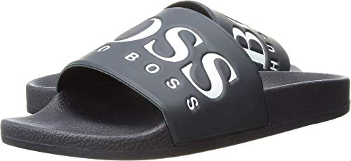 Hugo Boss Boss Green by Men's Solar Slide Sandal, Dark Blue, 46 M EU (13 US)