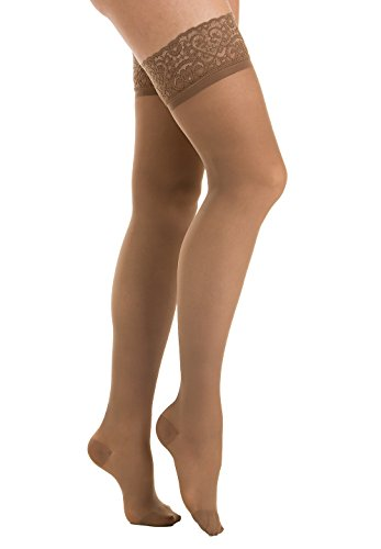 0F (Camel, sz.5) 15-20 mmHg moderate support hold up stockings with Lycra 3D technology ()